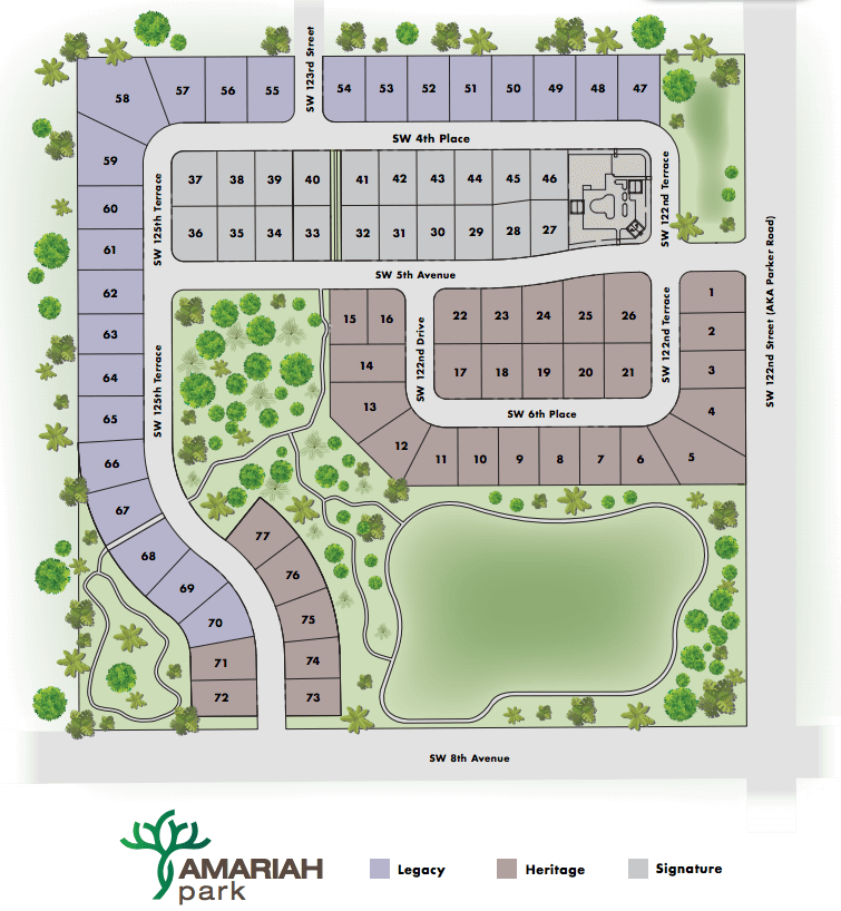 New Home Community Preview: Amariah Park | GW Robinson Homes Map Of Uf Health Gainesville Fl Parking on